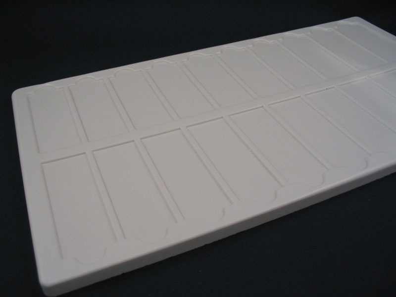 Slide Tray 20 Place White Plastic Without Lids Kt672