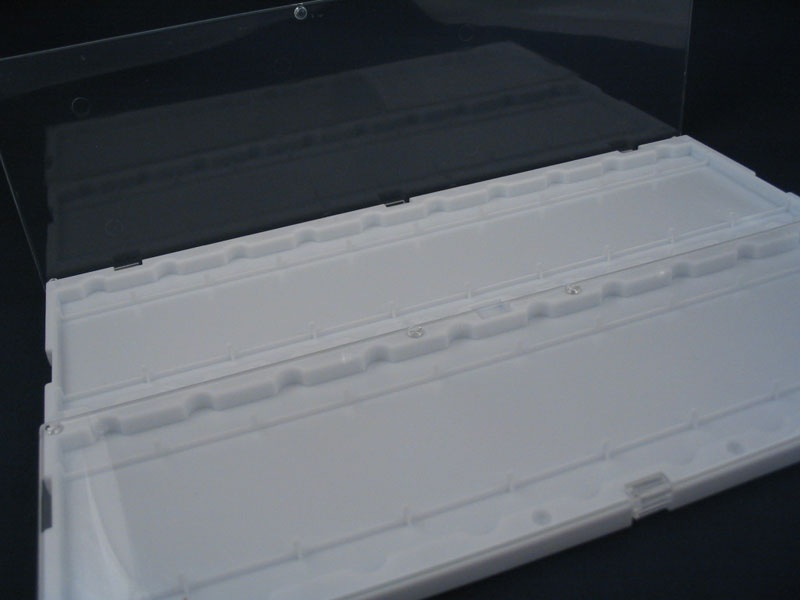 Slide Tray 20 Place White Plastic With Lids St20plas